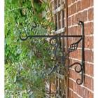 Side view of Cupids Arrow Hanging Basket Bracket