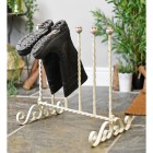 Charming cream finish three pair boot rack