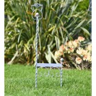 Silver finish wrought iron scroll boot scaper