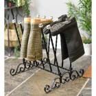 Traditional welly boot storage finished in black