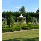 pavilion in manicured garden