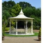 pavilion in landscape manor garden