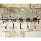 'Holborn' Industrial Five-Hook Coat Rack