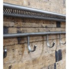 Industrial Pipe Shelf With Hooks