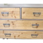 Industrial Style Four Draw Cabinet