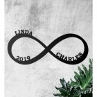 Personalised Infinity Loop Wall Art on Wall