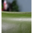 Green Buffalo Leather on the Chair