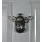 Iron Bumblebee Door Knocker on a Modern Door
