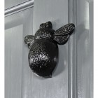 Side View of the Iron Bumblebee Door Knocker