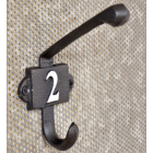 Cast Iron Coat Hook with the Number 2