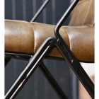 Close-up of the Black Metal Frame of the Chair