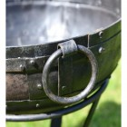 Close-up of the Ring Drop Handles on the Side of the Kadai Bowl