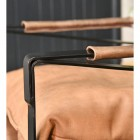 Close-up of the Leather Arms on the Chair