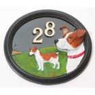 House Sign - Hand Painted - Jack Russell