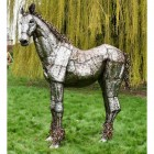Life-Like Horse Sculpture