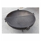 Grill Resting on Top of a Kadai Grill