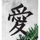 """Kanji Love Symbol"" Wall Art in Full"