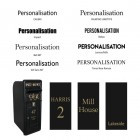 Fonts Available for Personalisation for the King George Rex Black Period Post Box