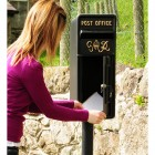 King George Rex Black Period Post Box in Scale