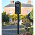 King George Rex Black Period Post Box on a Column
