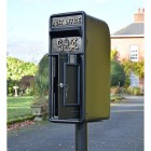 King George Rex Period Post Box Finished in Black & Gold