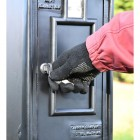 Lock on the Front of the King George Rex Black Period Post Box