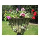 """Florentine"" Design Lamp Post Basket in Situ Outside on a Lamp Post"