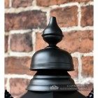 Lantern finial finished in black