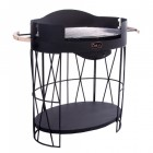 Large Oval Black Garden Barbecue