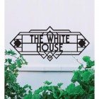Art Deco House Name Sign- Large