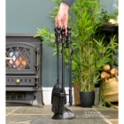 """Duchess"" Iron Fireside Companion Set to Scale"