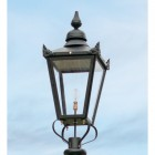 Large Black Victorian Lamp Post Top