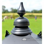 Black Finial on the top of the Lantern