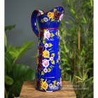 Large Blue Traditional Hand Painted Narrowboat Style Jug - 42.5cm