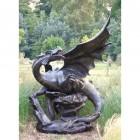 Large Cast Aluminium Dragon Sculpture