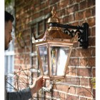 Large Copper Victorian Lantern To Scale