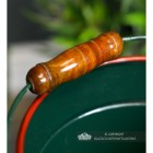 Close-up of the Wooden Handle o the Narrowboat Bucket