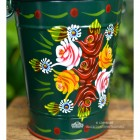 Close-up of the Rose Design on the Narrowboat Bucket