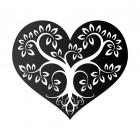 Tree Heart Wall Art in a Black Finish