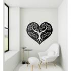 Tree Heart Wall Art in Situ in a Modern Sitting Room
