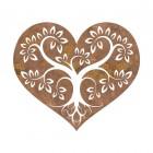 Rustic Tree Heart Wall Art in a Rustic Finish