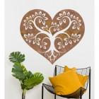 Rustic Tree Heart Wall Art in Situ