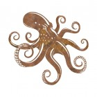 Octopus Rustic Wall Art in a Rustic Finish
