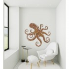 Octopus Rustic Wall Art in a Modern Sitting Room