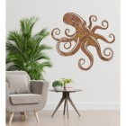 Octopus Rustic Wall Art in Situ in the Home