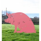Pig Silhouette in Pink Finish