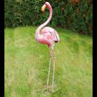 Tall Pink Flamingo Sculpture