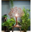 Large Tree of Life Rustic Table Lamp In Situ
