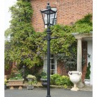 Victorian Lamp Post - Black - Fitted in Front of Townhouse