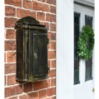Metal antique finish postal box with lockable door